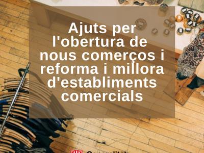 Ajuts per a l'obertura de nous comerços i la reforma i millora d'establiments comercials