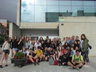 Alumnes alemanys d'intercanvi visiten l'Ajuntament