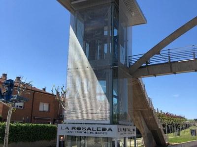 Aquest dissabte al matí entra en funcionament l'ascensor de La Rosaleda