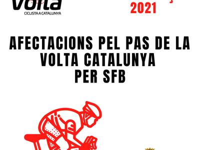 AVÍS INFORMATIU - Afectacions en motiu La Volta Ciclista Catalunya al seu pas per Sant Fruitós de Bages