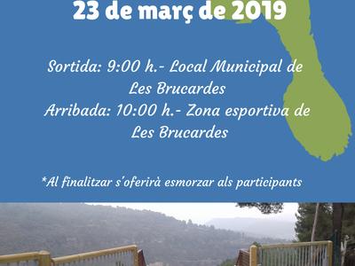 Caminada popular per la nova passarel·la de Les Brucardes