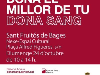 Campanya de donació de sang a Sant Fruitós de Bages