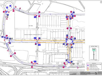 Comencen els treballs de senyalització dels carrers de Pineda de Bages i del polígon de Sant Isidre