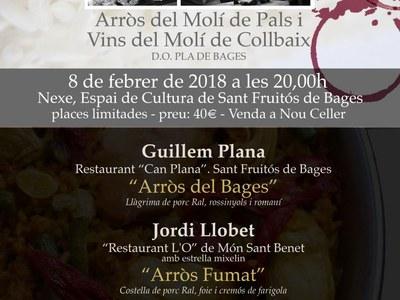 El 7 d'arròs, un tast maridatge i una xerrada sobre el món del vi seran els actes previs a la Festa de l'Arròs de Sant Fruitós de Bages