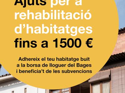 El Consell Comarcal del Bages ofereix ajuts de fins a 1.500 euros per rehabilitar habitatges i incloure'ls a la Borsa de lloguer assequible