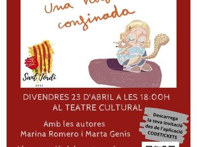 """El conte """"Sala i Ricardis, una història confinada"""" omplirà el Teatre Casal Cultural per la Diada de Sant Jordi"""