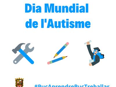 El llaç de la façana de l'ajuntament s'il·luminarà de blau en el Dia Mundial de l'Autisme