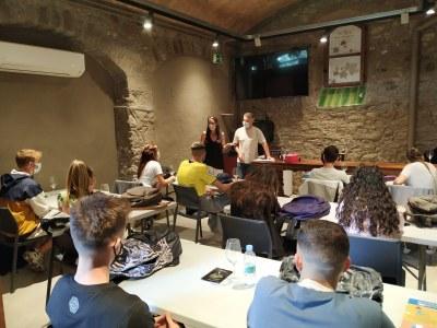 El Museu de la vinya i el vi es converteix en una aula pels alumnes del mòdul vitivinícola
