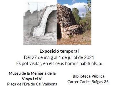 """El Museu de la vinya i el vi i la Biblioteca Municipal exposen conjuntament la mostra """"Tota pedra fa paret. La pedra seca a Catalunya"""""""