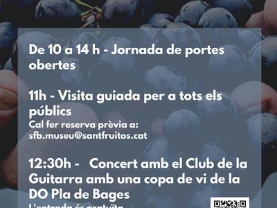 El Museu de Sant Fruitós de Bages se suma a la Festa de la Verema del Bages