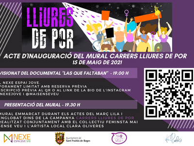 """El Nexe Espai Jove inaugura el mural """"Carrers lliures de por"""""""