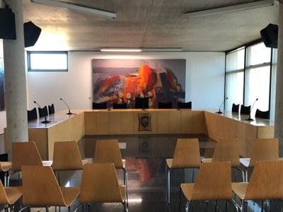 El ple de l'Ajuntament reconeix la tasca realitzada als regidors que no continuen aquest mandat