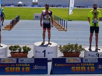 El santfruitosenc Jan Díaz es proclama campió d'Espanya sub-18 en 110 metres tanques