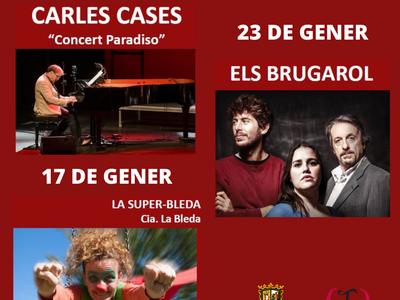 El Teatre Casal Cultural manté la programació de gener amb totes les mesures de prevenció