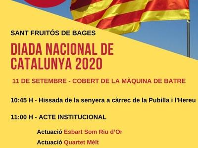 Els actes de la Diada Nacional de Catalunya a Sant Fruitós de Bages  començaran amb la hissada de la Senyera a ¾ d'11 del matí