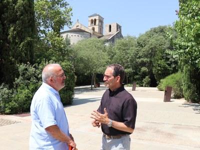 Els alcaldes de Sant Fruitós de Bages i Navarcles realitzen una primera reunió de treball a Sant Benet de Bages