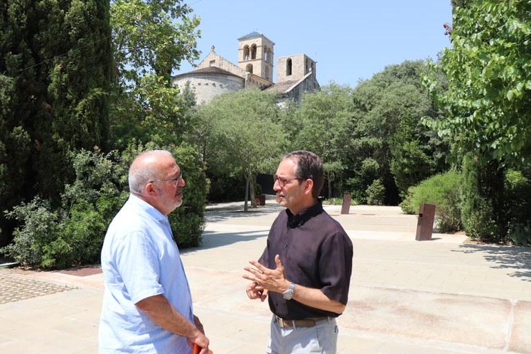 D'esquerra a dreta: Josep Maria Feliu, alcalde de Navarcles i Joan Carles Batanés, alcalde de Sant Fruitós de Bages