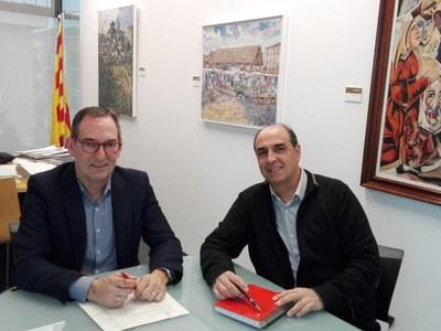 Els alcaldes de Sant Fruitós de Bages i Sant Joan de Vilatorrada realitzen una primera reunió de treball