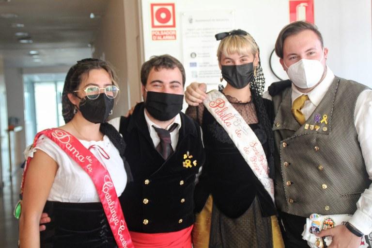 D'esquerra a dreta: Mariona Sagués, Roc Grandia, Alba Prinz i Lluís Pérez.