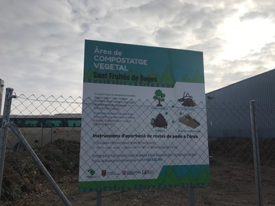 Es realitzen millores en la gestió de l'Àrea de compostatge vegetal per tal d'obtenir un millor funcionament del servei
