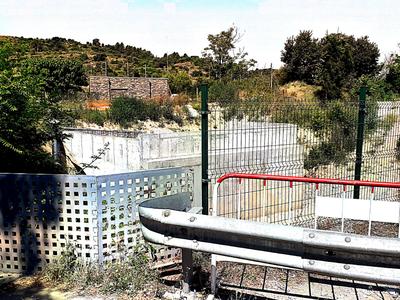 Es reprenen les obres de construcció del pont d'accés a Sant Benet de Bages