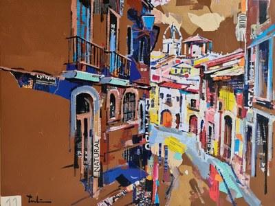 Joan Tauleria s'endú el primer premi del concurs de pintura ràpida de la Festa de l'Arròs 2021