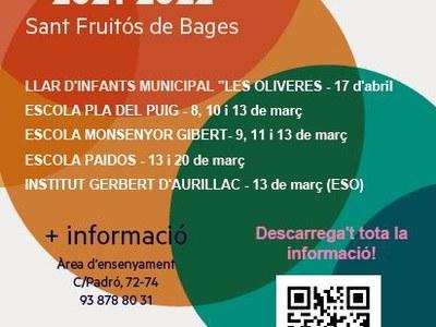 Jornades de portes obertes als centres educatius del municipi