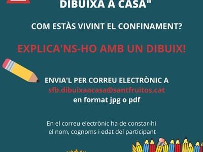 """L' Ajuntament de Sant Fruitós de Bages engega la campanya """"Sant Fruitós dibuixa a casa"""""""