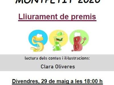 L'acte de cloenda del concurs de contes Montpetit  es celebrarà aquest divendres 29 de maig de forma virtual