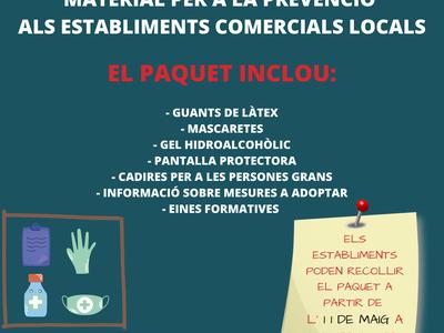 L'Ajuntament de Sant Fruitós de Bages entregarà un kit de reobertura al comerç  local amb material de prevenció i assessorament per tal que puguin obrir portes amb  les màximes mesures de seguretat i higiene