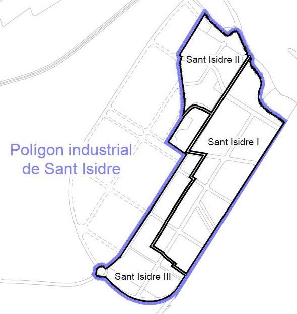 Mapa del polígon de Sant Isidre