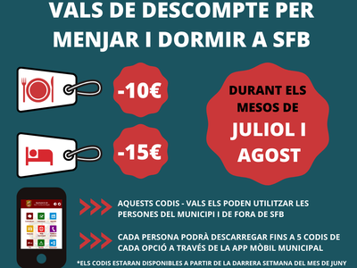 L'Ajuntament de Sant Fruitós de Bages ofereix descomptes per menjar i per pernoctar al municipi