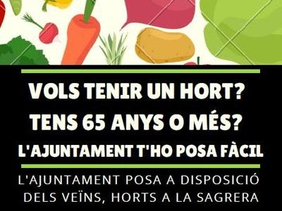 L'Ajuntament de Sant Fruitós de Bages posa a disposició dels ciutadans l'ús d'horts per al conreu a La Sagrera – Riu d'Or