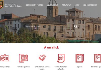 L'Ajuntament de Sant Fruitós de Bages posa en marxa una nova web municipal adaptada als nous temps