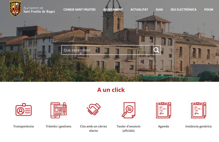 Imatge de la portada de la web