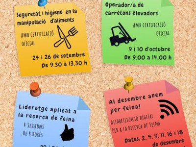 L'Ajuntament de Sant Fruitós de Bages programa 4 cursos de formació gratuïts