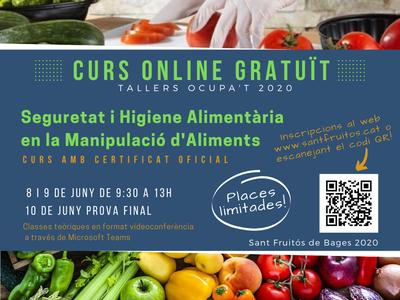 L'Ajuntament de Sant Fruitós de Bages programa un curs en línia gratuït de seguretat i higiene alimentària