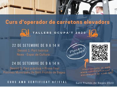 L'Ajuntament de Sant Fruitós de Bages programa un curs gratuït d'operador/a de carretons elevadors