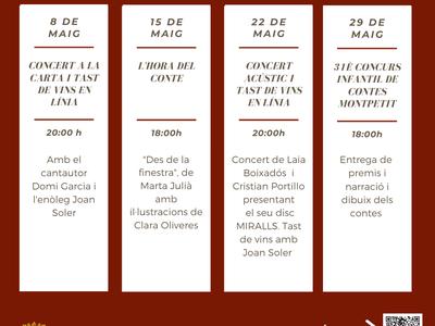 L'Ajuntament de Sant Fruitós de Bages programa una agenda d'actes culturals i formatius en línia