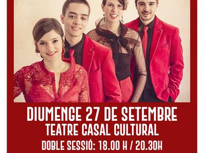 L'Ajuntament de Sant Fruitós de Bages programa una segona sessió del concert de Quartet Mèlt en motiu de les restriccions d'aforament al teatre