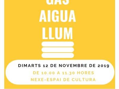 L'Ajuntament de Sant Fruitós de Bages programa una xerrada sobre els subministraments bàsics a la llar