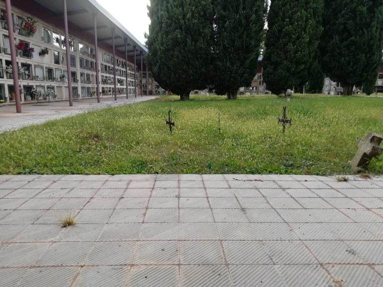 Estat actual del cementiri municipal