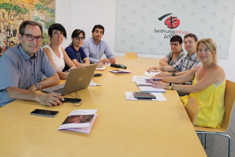 Reunió de treball amb Cáritas