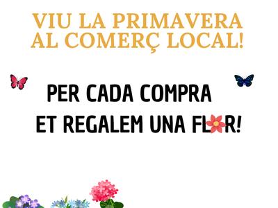 L'Ajuntament regala 1.000 flors per les compres realitzades al comerç local