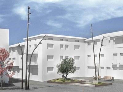 L'equip redactor presenta la segona fase del Projecte de reurbanització del carrer del Padró als regidors de l'Ajuntament de Sant Fruitós de Bages.