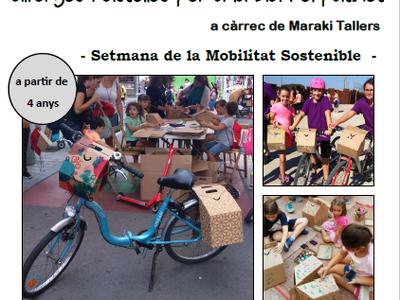 La Biblioteca de Sant Fruitós de Bages programa un taller infantil de construcció d'alforges i cistelles per a la bicicleta o el patinet