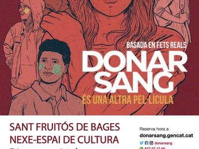 La campanya 'Donar sang és una altra pel·lícula' arriba a Sant Fruitós de Bages
