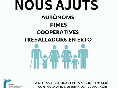La Generalitat engega noves ajudes per autònoms, PIMES, cooperatives i persones treballadores en ERTO