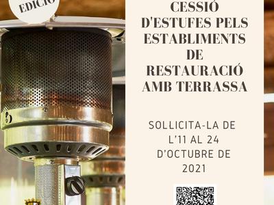 L'Ajuntament cedeix estufes als establiments de restauració amb terrassa del municipi
