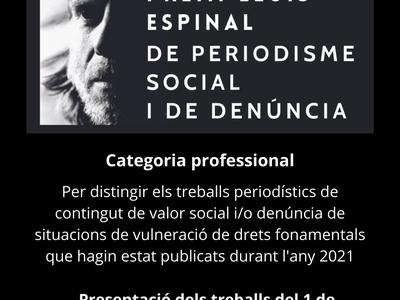 L'Ajuntament impulsa el Premi Lluís Espinal de periodisme social i denúncia
